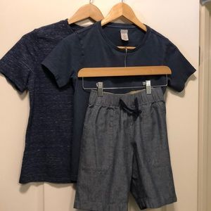 3 Blue basics for boys size 10  Crewcuts and Gap